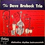 The Dave Brubeck Trio: Distinctive Rhythm Instrumentals
